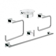 Grohe Essentials Cube Master Accessories Set 5-In-1 Chrome