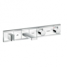 Hansgrohe RainSelect Finish Set for Concealed Inst for 2 Functions Bath Tub White/Chrome