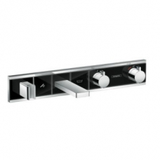 Hansgrohe RainSelect Finish Set for Concealed Inst for 2 Functions Bath Tub Black/Chrome