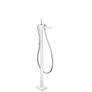 Hansgrohe PuraVida Bath Mixer Free Standing White/Chrome