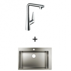 Hansgrohe S711-F660 Built-In Sink 660 760x500mm SS Incl Talis Select S SL Kitchen Mixer 300 CHR