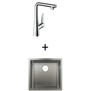 Hansgrohe S719-U400 UM Sink 400 450x450mm SS Incl Talis Select S SL Kitchen Mixer 300 CHR