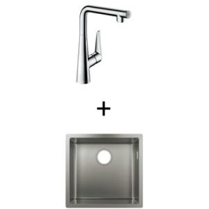 Hansgrohe S719-U450 UM Sink 450 500x450mm SS Incl Talis Select S SL Kitchen Mixer 300 CHR