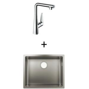 Hansgrohe S719-U500 UM Sink 500 550x450mm SS Incl Talis Select S SL Kitchen Mixer 300 CHR
