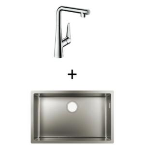 Hansgrohe S719-U660 UM Sink 660 710x450mm SS Incl Talis Select S SL Kitchen Mixer 300 CHR