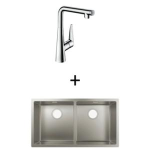 Hansgrohe S719-U765 UM Sink 370/370 815x450mm SS Incl Talis Select S SL Kitchen Mixer 300 CHR
