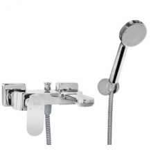 Bordo Round Bath Mixer & Hand Shower W/T Chrome