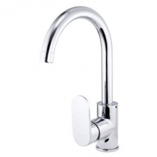 Bordo Round Pillar Sink Mixer Pipe Spout Chrome