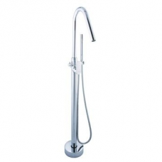 Bordo Round Freestanding B/Mixer Chrome