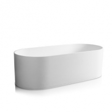 Soho Freestanding Bath with Overflow 1800x800x550mm Pearl White - Jee-O