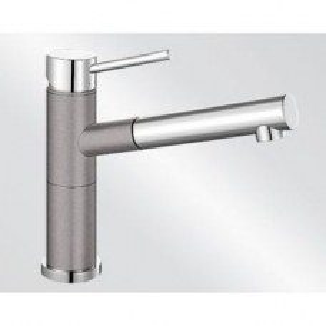 Alta-S Compact Sink Mixer Single Lever Pillar-Mounted Alu Metallic/Chrome