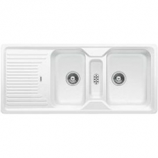 Classic 8 S Sink Drop-In DEB & Tidy 1160x510x190mm White