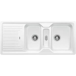 Classic 8 S Sink Drop-In DEB & Tidy 1160x510x190mm White