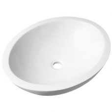 Ovale Large Countertop Basin 560x475x140mm White