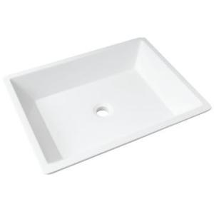Piazza Basin Countertop 550x415x120mm White