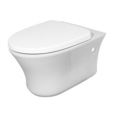 Marajo Wall-Hung Pan Including Seat & Fixations White