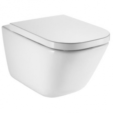 The Gap A34H47L000 Rimless Wall Hung Pan Incl Seat Pack Roca