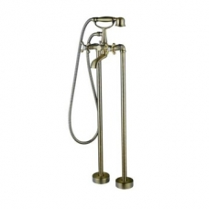Bijiou Adour Freestanding Bath Mixer with Handshower Bronze - Bijiou
