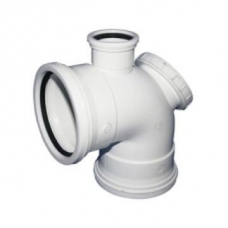 Bend PVC 90Deg IE 110mm + Vent Horn