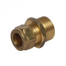 Coupler Compression Red MIxC 22mm x 15mm