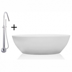 Alana Bordo Freestanding Bath and Mixer Combo