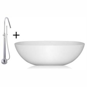 Charlotte Bordo Freestanding Bath and Mixer Combo