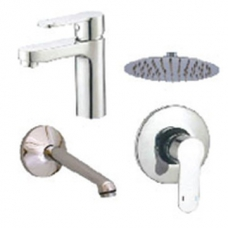 Plumb-It Promo Combo Incl. Aquarius Basin & Shower Mixer Round 4 Inch Shower Rose & Shower Arm