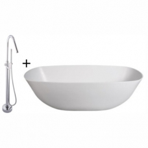 Vivian Bordo Freestanding Bath and Mixer Combo