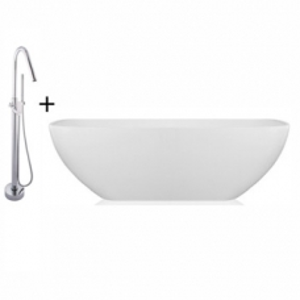 Zara Bordo Freestanding Bath and Mixer Combo