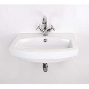 Belle Medium Wall-Hung Basin 600x480mm White