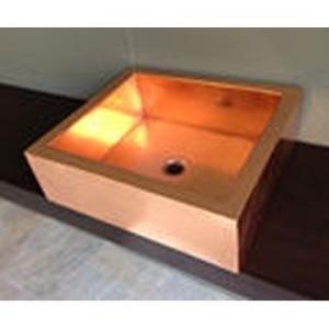 Copper Countertop Rectangular Basin 510x460mm