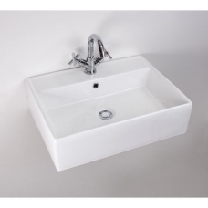 Rossco Medium Rect C/Top Basin 450x580mm White