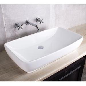 Soft Rectangle Countertop Basin 740x405mm White