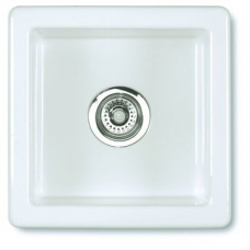Belthorn Undermount Sink 381x381x191mm White - Shaws