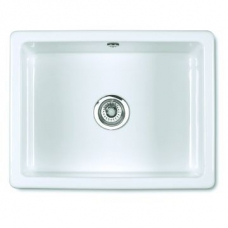 Inset 600 Butler Sink 595x460x255mm White - Shaws