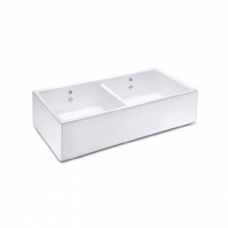 Shaker D/Bowl 900 Butler Sink 895x465mm White - Shaws