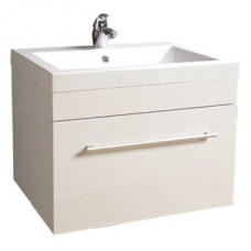 Composite Basin & Cabinet Wall-Hung 600x475x465mm White