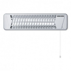 Radiant Heater Infrared Quartz with 1.8 kW Heating Output Silver