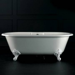 Cheshire F/Standing Bath w/Overflow & Cheshire Feet Quarrycast 1750x800mm White