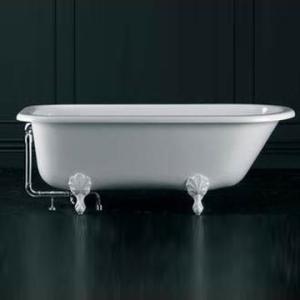Hampshire Freestanding Bath w/Overflow Hampshire Feet Qarrycast 1705x780mm White
