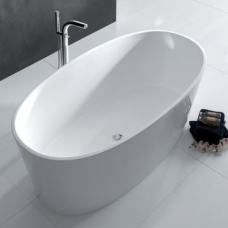 IOS Contemporary Freestanding Dbl-Ended Bath no Overflow 1500x800x600mm White