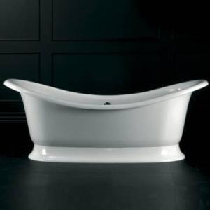 Marlborough F/Standing Bath w/Overflow & Marlborough Base w/Overflow 1890x860mm White