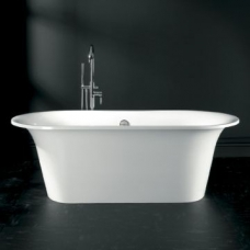 Monaco Modern Freestanding Double-Ended Bath with Overflow 1740x800x612mm White
