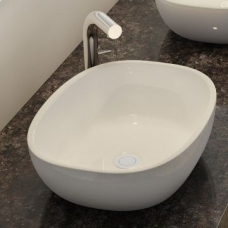 Barcelona Rimless Countertop Basin no Overflow 640x350mm White