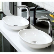 Cabrits Rimless Countertop Basin no Overflow 550x340x102mm White