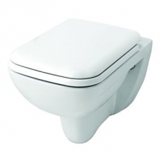 Urban Life Wall-Hung Toilet w/ Soft-Close Seat White