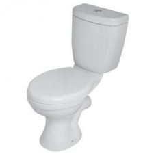 Hibiscus Elite TDF Close-Coupled Toilet Suite w/ Parker Fittings No Seat White