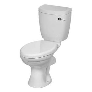 Hibiscus Elite Close-Coupled Toilet Suite Single Flush w/ Parker Fittings No Seat White