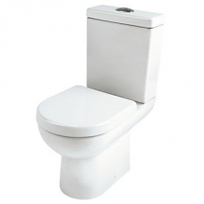 Urban Compact Close-Coupled Toilet w/ Thermoset Soft-Close Seat & Brackets White