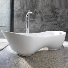 Cabrits Contemporary Freestanding Slipper Bath no Overflow 1739x745x561mm White